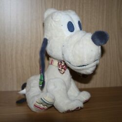 Pluto 11 Soft Toy Dog Classic Mickey Mouse Disney White Plush Jointed Legs Vgc