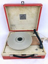 Vintage Rca Victor Phonograph Record Player 4 Speed Model Vk 47