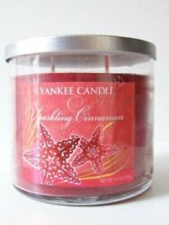 Yankee Candle quot; Sparkling Cinnamon quot; Scented Red Candle 12.5 oz