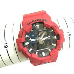 Authentic Casio Ga-700 G-shock Ss Silicon Rubber Red Free Shipping No.2047