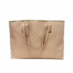 Previously Owned Gucci Tote Bag Canvas Pink System Gold 267474 No.4885 $476.90