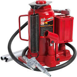 Big Red Ta92006 Torin Pneumatic Air Hydraulic Bottle Jack With Manual Hand Pump