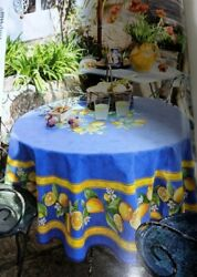 Nwt French Provencal Cotton 71 Round Tablecloth Tissus Toselli - Made In France