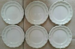 6 Assiettes Plates Gien Blanches Tbe
