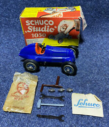 1946-49 Schuco Studio Windup Racer Near Mint With Box And Tools
