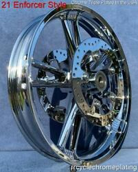 21 Chrome Enforcer Front Wheel W /2 Rotors And Hardware 08-21 Street Glide Flhx