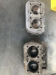 Pair Of Good Used Loaded 36hp Vw Cylinder Heads Off Running Vehicles Type 1 Bug