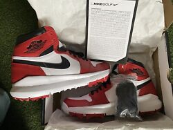 New Nike Air Jordan 1 Retro Golf Shoes 917717 100 Chicago Menand039s Size 10.5