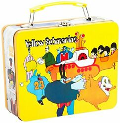 Vandor Beatles Yellow Submarine Vintage Shaped Tin Metal Lunchbox Tote With H...