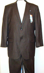 Caravelli Classic Fit Menand039s Suit Size 46l 40w Brown
