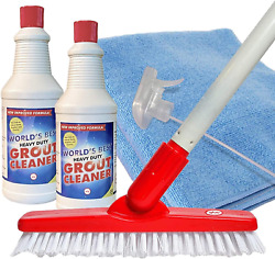 Worlds Best Heavy-duty Grout Cleaning Kit   Grout Cleaner Brush Scrubber With A