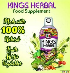 Kings Herbal Fruits Vegetables And Herb Fusion Food Supplement 750 Ml