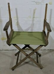 Vintage Telescope Foldable Directors Chair Patio Furniture/outdoor Missing Back
