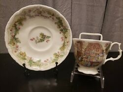 Rare Royal Doulton Brambly Hedge Old Oak Palace Cup And Saucer 1994