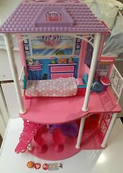 Barbie 2 Story Beach House With Original Furniture And Accessories Excellent