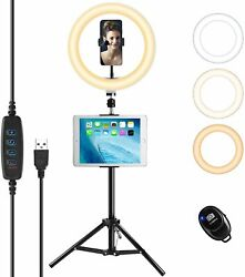 Led Ring Light With Tripod Standandwireless Remote Dimmable Ringlight For Makeup