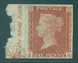Sg C4 Sg 21 1d Red-brown Plate 17 Imprimatur. A Very Fine Example With...