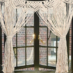 Large Macrame Wall Hanging Tapestry Home Window Curtain Wedding Decor
