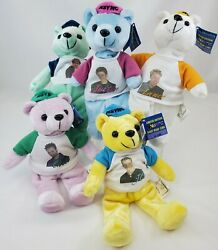 Vintage 2000 Nsync Limited Edition Rare Bears - Complete All 5 W/tag Nwt