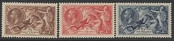 Sg 450-452. 1934 Seahorse Set Of 3. 2/6 To 10/-. Fine Unmounted Well Centred...