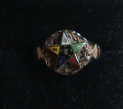 Vintage Order Of The Eastern Star Pinky Ring