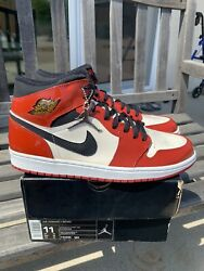 Ds 2003 Nike Air Jordan 1 Mid Retro Patent Leather Sz 11 Chicago Bred Fragment