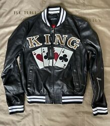 Dolce And Gabbana King Playing Cards Bomber Jacket Size 54 4500