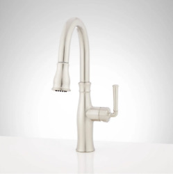 Signature Hardware Williston 1.8 Gpm Single Hole Pull Down Faucet Brushed Nickel