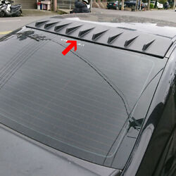 Painted Abs For Honda Civic 8th 4d Sedan Rear Window Fin Roof Spoiler Wing
