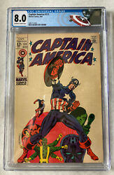 Captain America 111 Cgc 8.0 Vf 1969 Off-white To White Pages