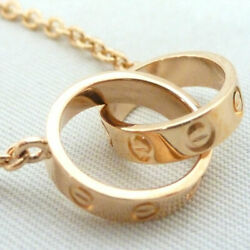 Previously Owned Baby Love Necklace K18pg 41cm 6.5g Pink Gold No.5346