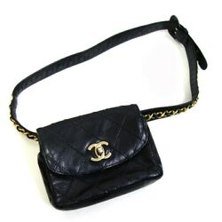Previously Owned Matelasse Chain Mini Bag Black Size Reviewed On No.7107