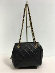 Previously Owned Chain Handbags Lambskin Leather Black Cocomark No.7427
