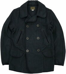 Authentic Rrl Rrl Limited Edition Made In The U.s. Badbury Indigo Pcoat No.1365