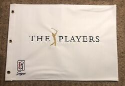 The Players Championship White Rare Undated Canvas Golf Pin Flag Tiger Woods Tpc