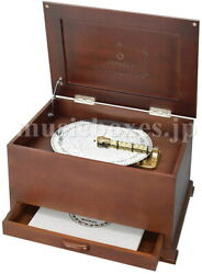 Brand New Sankyo Orpheus 10-5/8 Disc 45 Note Music Box With 5 Discs Ds-401a