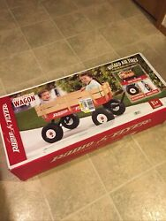 Radio Flyer 36 All-terrain Steel And Wood Wagon Air Tires Red Nib Local Pickup