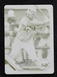 2019 Bowman Chrome Prospects Printing Plate Yellow 1/1 Pete Alonso Peter Rookie
