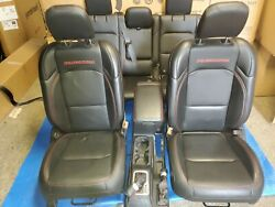 2018-2021 Jeep Wrangler Rubicon Front And Rear Seats With Console Leather Oem