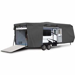 Travel Trailer Toy Hauler Storage Cover With Ramp Door Access - Length 27and039 - 30and039