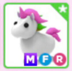 Mega Neon MFR Fly Ride Unicorn For Roblox Adopt Me FAST DELIVERY $19.99