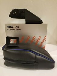 Mamiya Rb / Rz Pd Prism Finder With Prism Cap Eyecup Prism Pouch In Box
