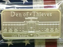 Den Of Thieves Not Federal 10 Oz .999 Fine Silver Round Coin Bar More Frm 99c