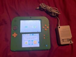 Nintendo 2ds Legend Of Zelda Ocarina Of Time 3d Green Console Tested/great Shape