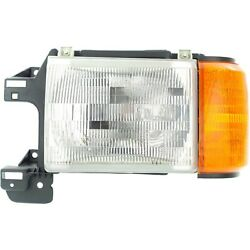 Halogen Headlight For 87-91 Ford F-150 Left W/ Bulb And Side Marker