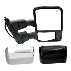 Tow Mirror For 2008 2009 Ford F250 Super Duty Passenger Side Power Fold Heated