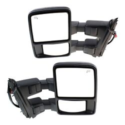 Tow Mirror Set For 2008 2009 F250 Super Duty Left And Right Side Power Heat Extend