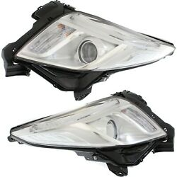 Headlight For 2013-2017 Cadillac Xts Pair Driver And Passenger Side