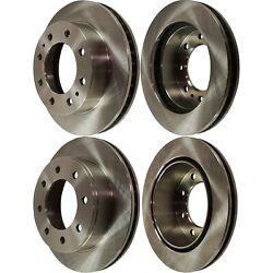 Disc Brake Rotor For 2003-2020 Gmc Savana 2500 Front And Rear Solid 4-wheel Set