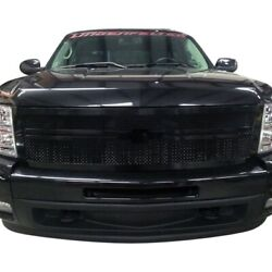 For Chevy Silverado 1500 07-12 Status Grilles 1-pc Blue Mesh Main Grille